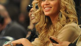 Beyonce attends the NBA All-Star Game Fe