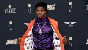 Lamar Jackson NFL Honors Red Carpet